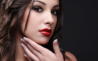 Glamour Girl Hair Lips Face HD Love Wallpaper