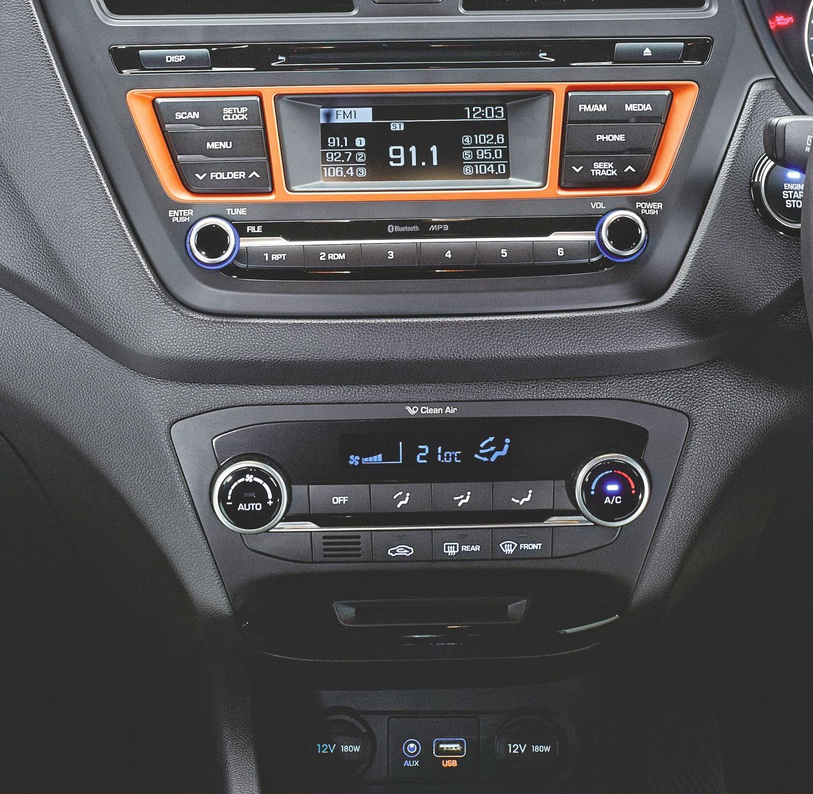 hyundai i20 active car interior