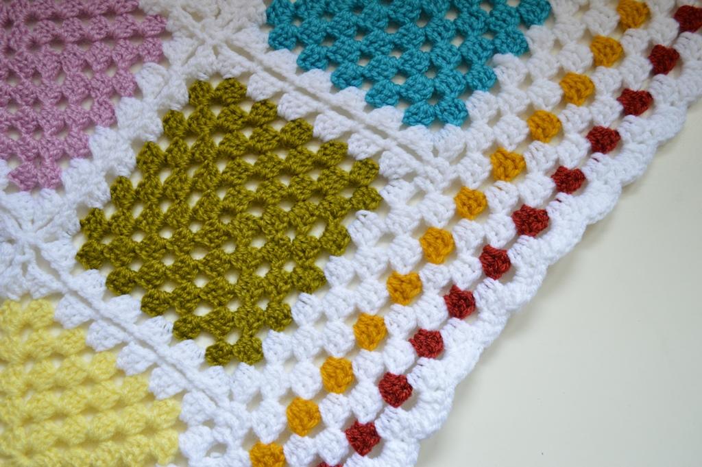 Como hacer grannys y mi nueva manta de ganchillo elenarte for Mantas de lana hechas a mano