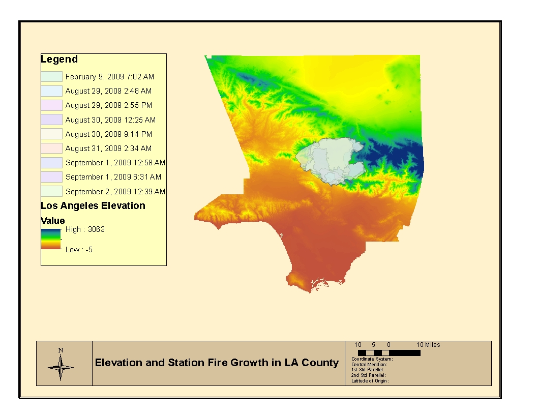 the graphic above illustrates the relationship between fire hydrants soil type and the extent of the los angeles station fire of 2009 the map in the top
