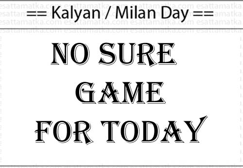 Matka Jadu No Sure Game For Today...Please Don't Play (05-Sept-2015)