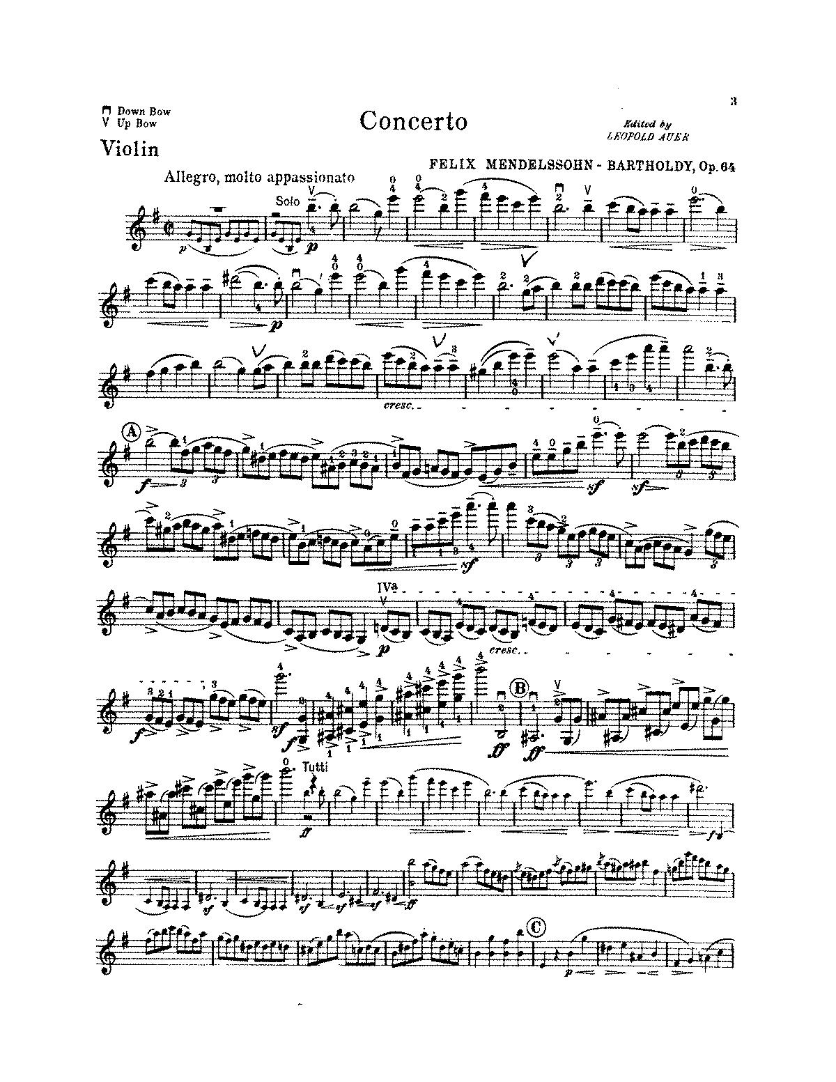 MUSIClassical Notes Mendelssohn Violin Concerto In E Op 64