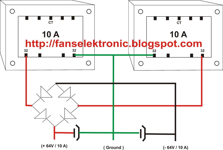 Belajar Electro  Menggabung Trafo