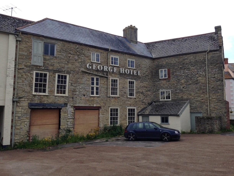 Abandoned hotel, Axminster, Devon
