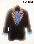 STUDDED BLACK TUXEDO JACKET