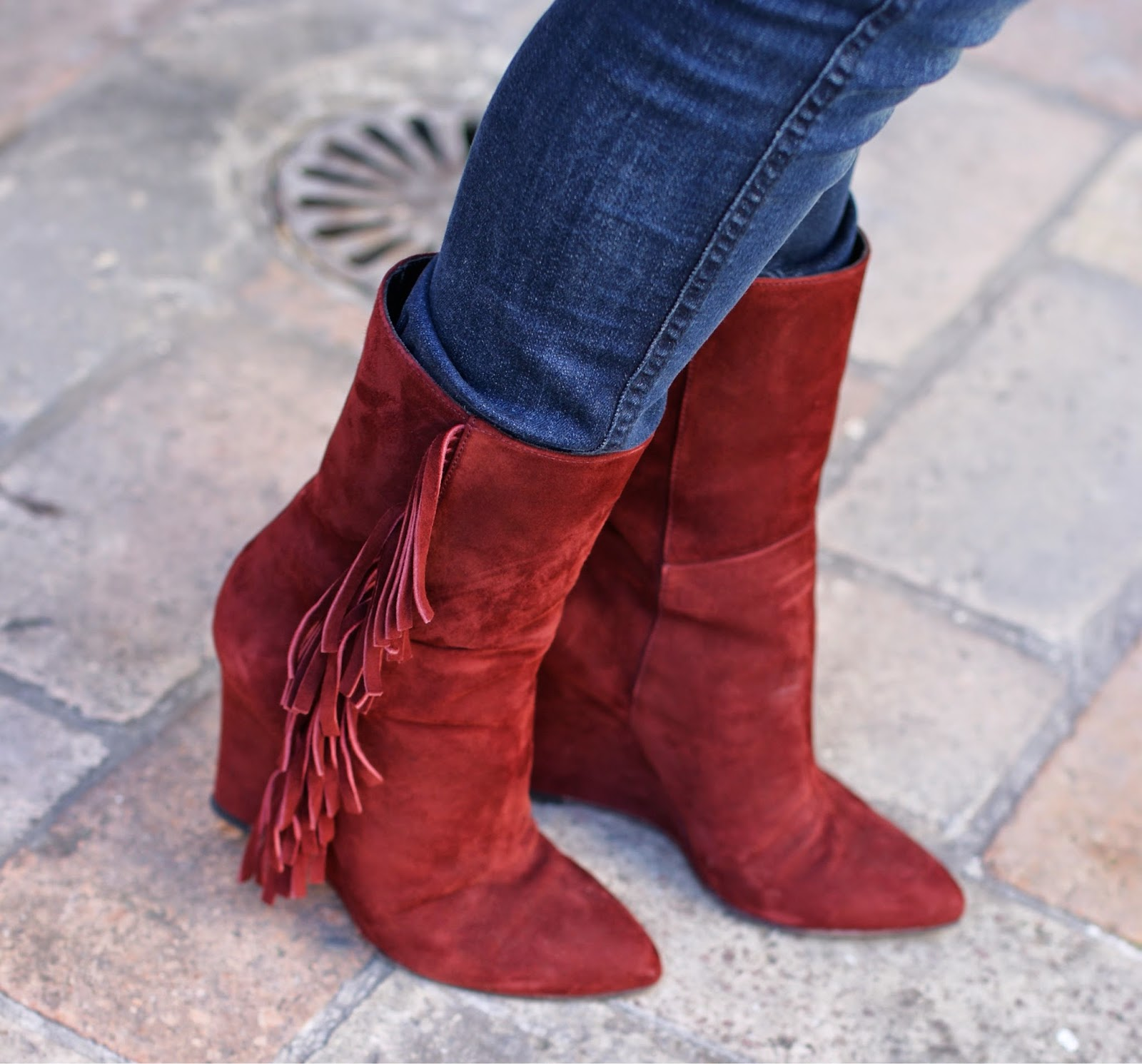 suede fringed boots, gaia d'este stivali, Fashion and Cookies, fashion blogger