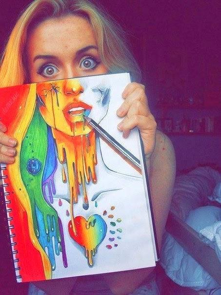 imagem criativa arte - gnvision caderno coracao
