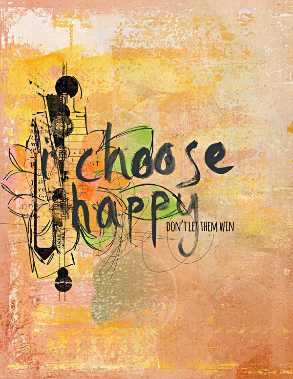Heather Greenwood | Mixed Media Art Journal Template | Captivated Visions | I Choose Happy | Art Therapy