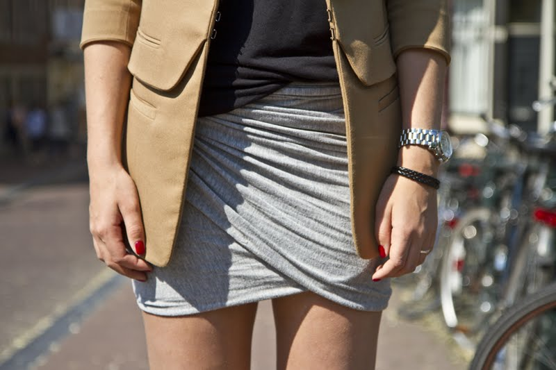 DIY Wrapped Jersey Skirt