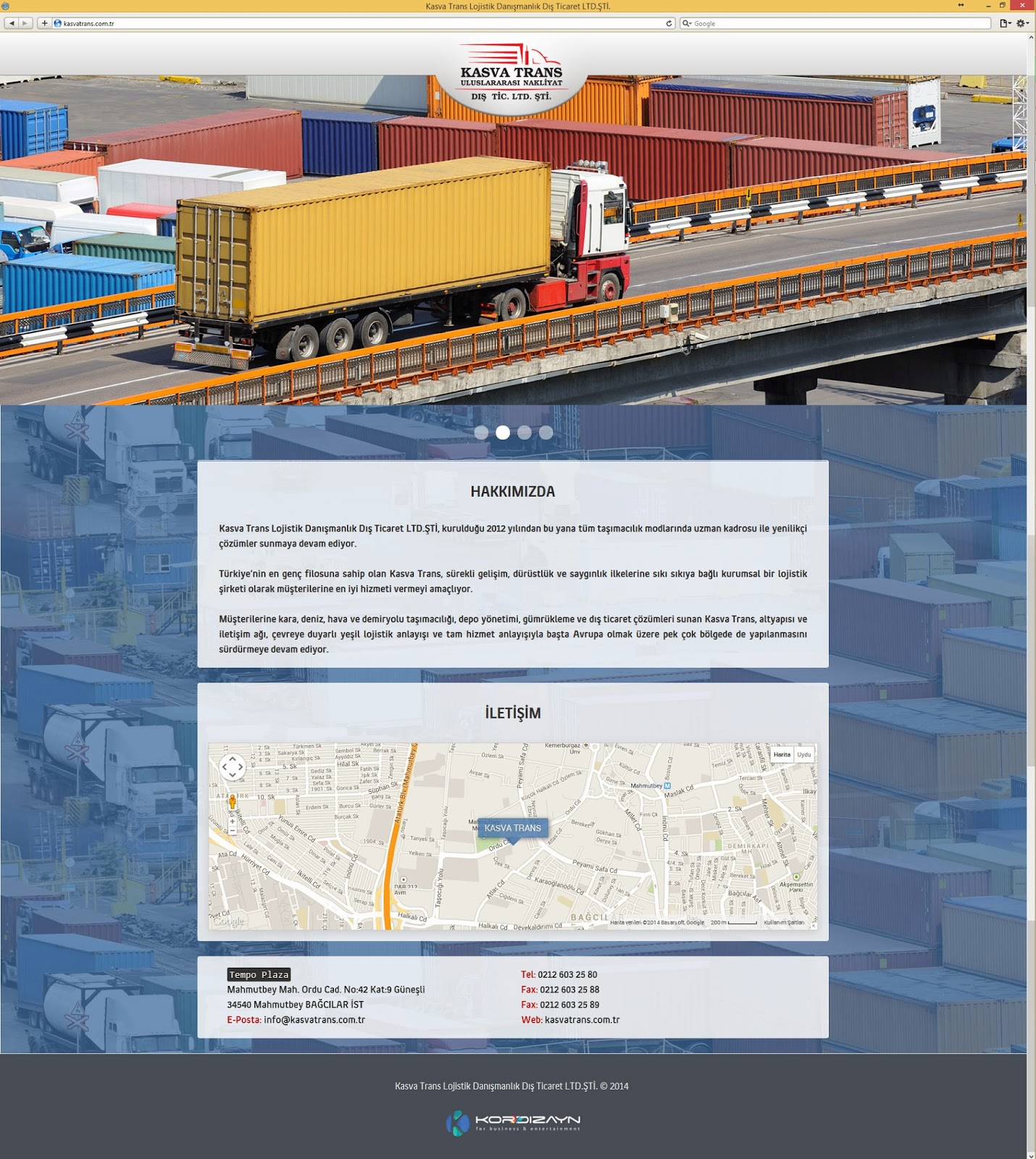 Kasva Trans Lojistik Uluslar Arası Nakliyat - Ana Sayfa
