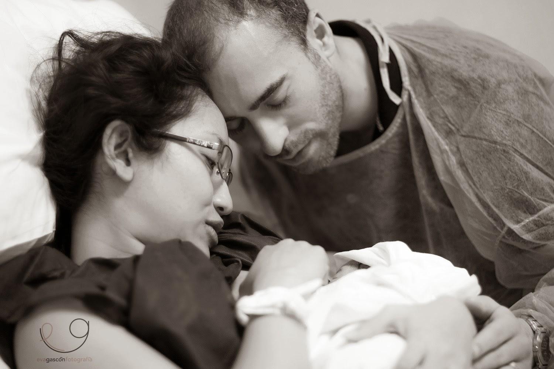 Eva Gascón fotografía nacimiento