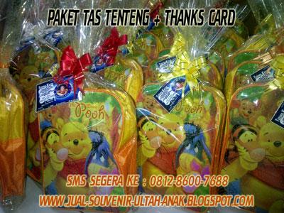 paket tas tenteng dengan thanks card tas tenteng stationary sleting