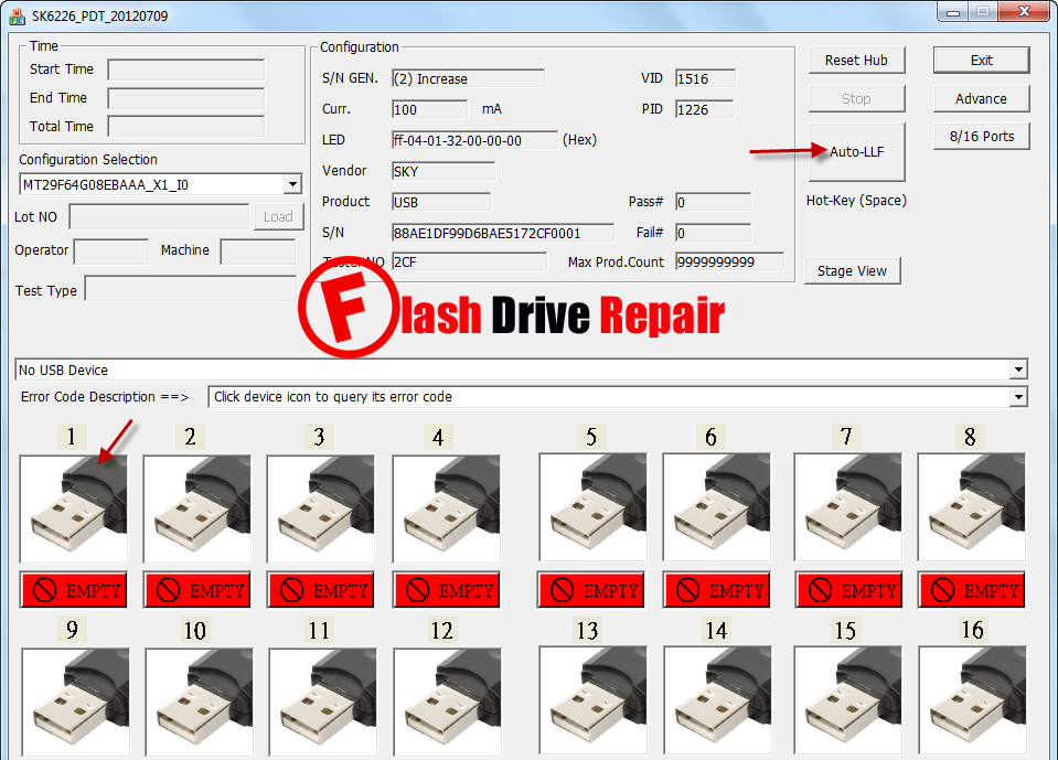 how to fix a corrupted flash drive without formatting