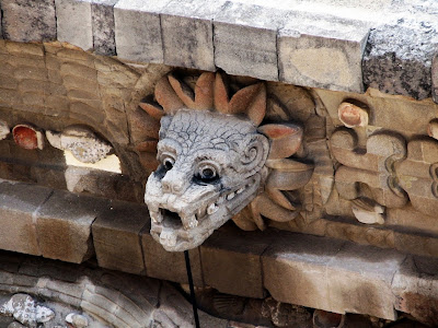 Teotihuacan, wall sculpture detail
