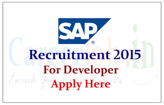 SAP Hiring for post of Software Developer