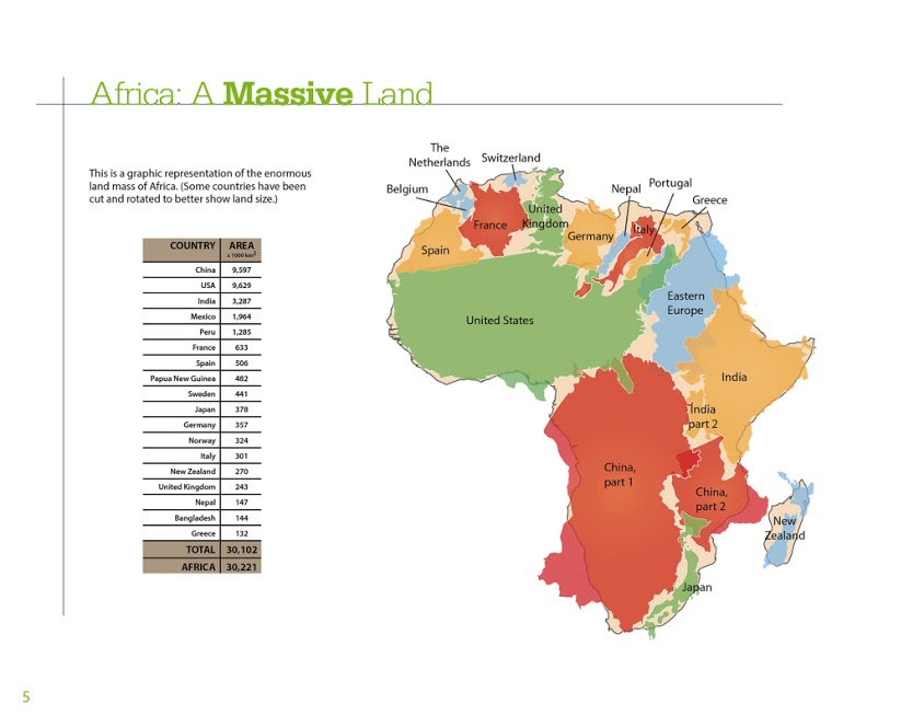 how many countries fit in africa map