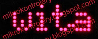 Wyświetlanie napisu na matrycy LED.
