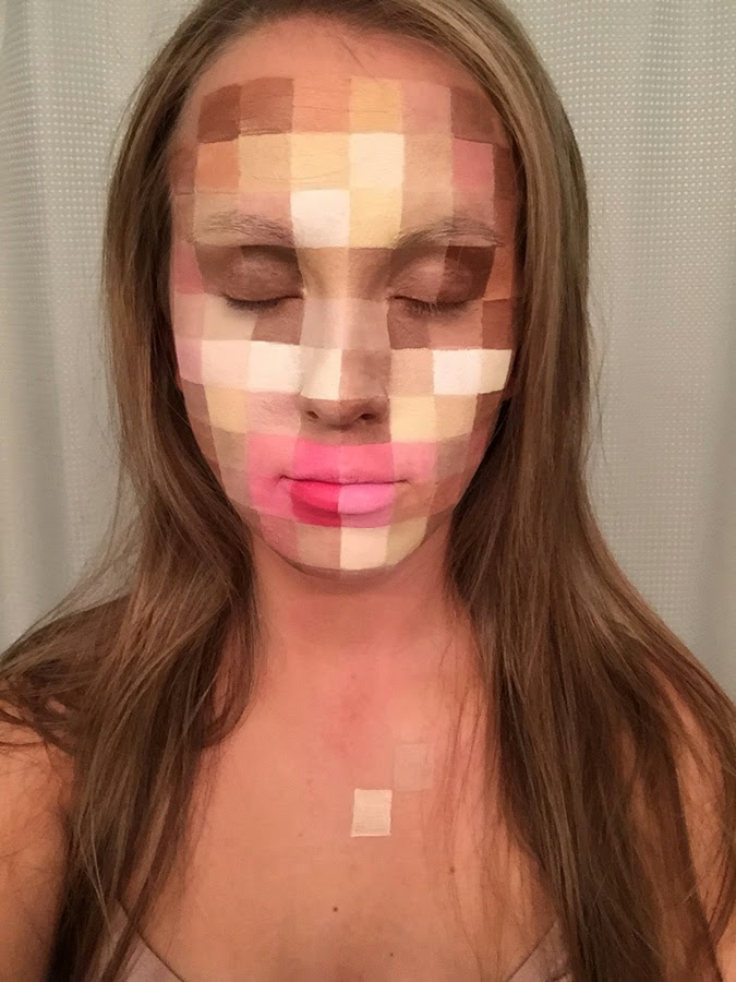 pixelated