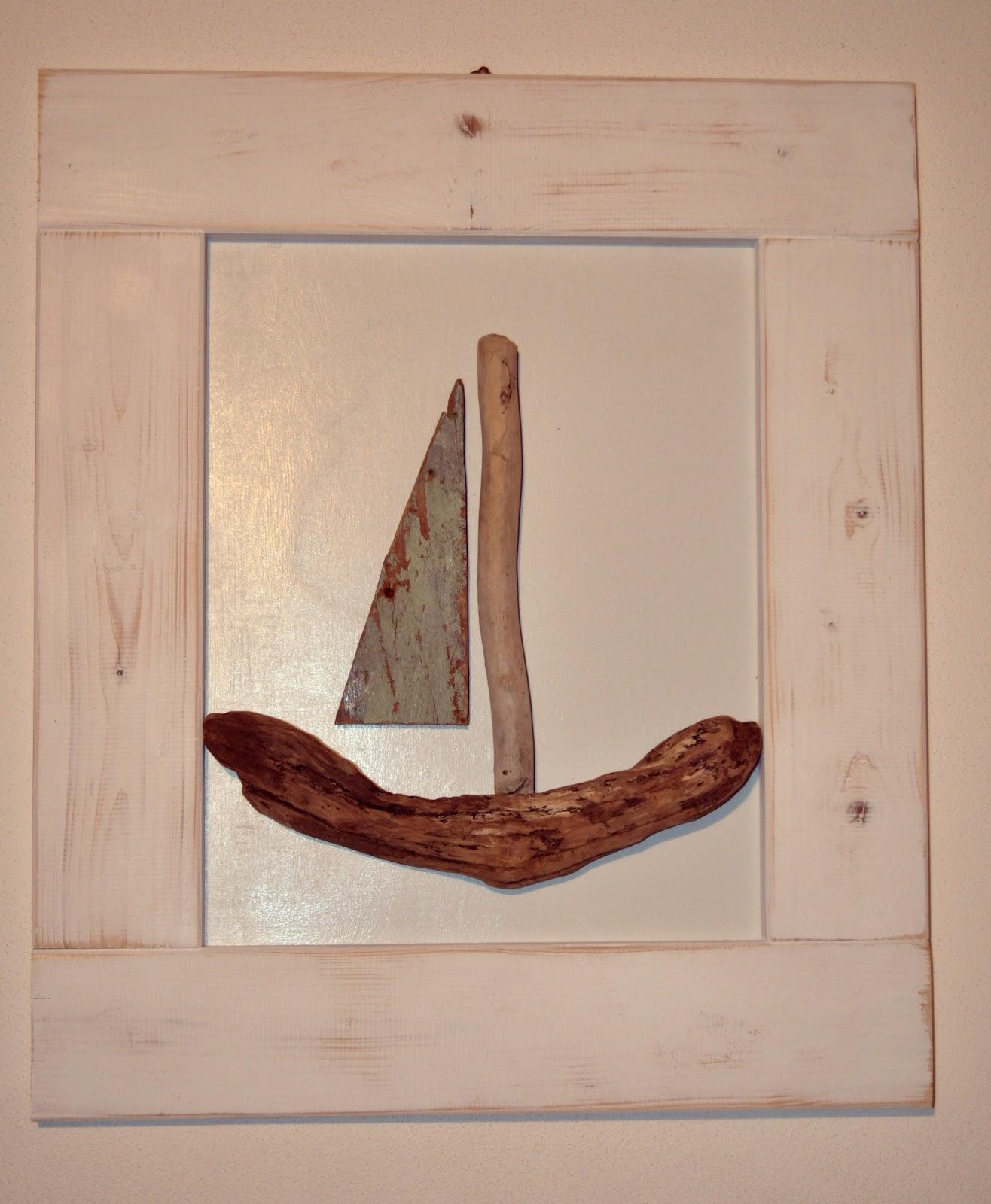 Quadri con barche legno  Frammenti di Mare