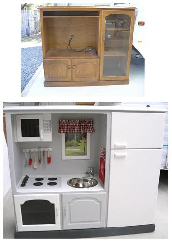 Reciclatex Ideas upcycling para hacer muebles cocinitas para niños kids furniture