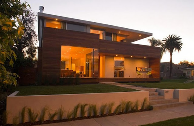 Minimalist Wooden House Exterior Design 2016