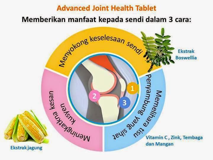 ADVANCED JOINT HEALTH TABLET menyokong dalam 3 cara