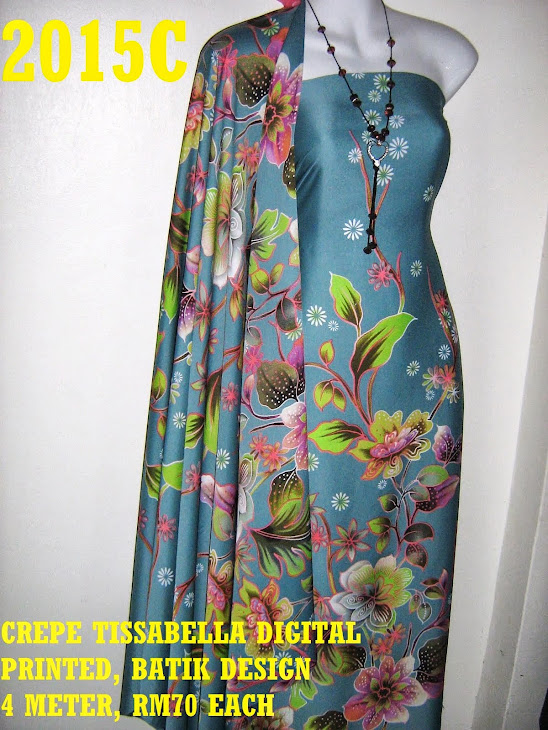 CTD 2015C: BATIK CREPE TISSABELLA DIGITAL PRINTED, EXCLUSIVE DESIGN, 4 METER