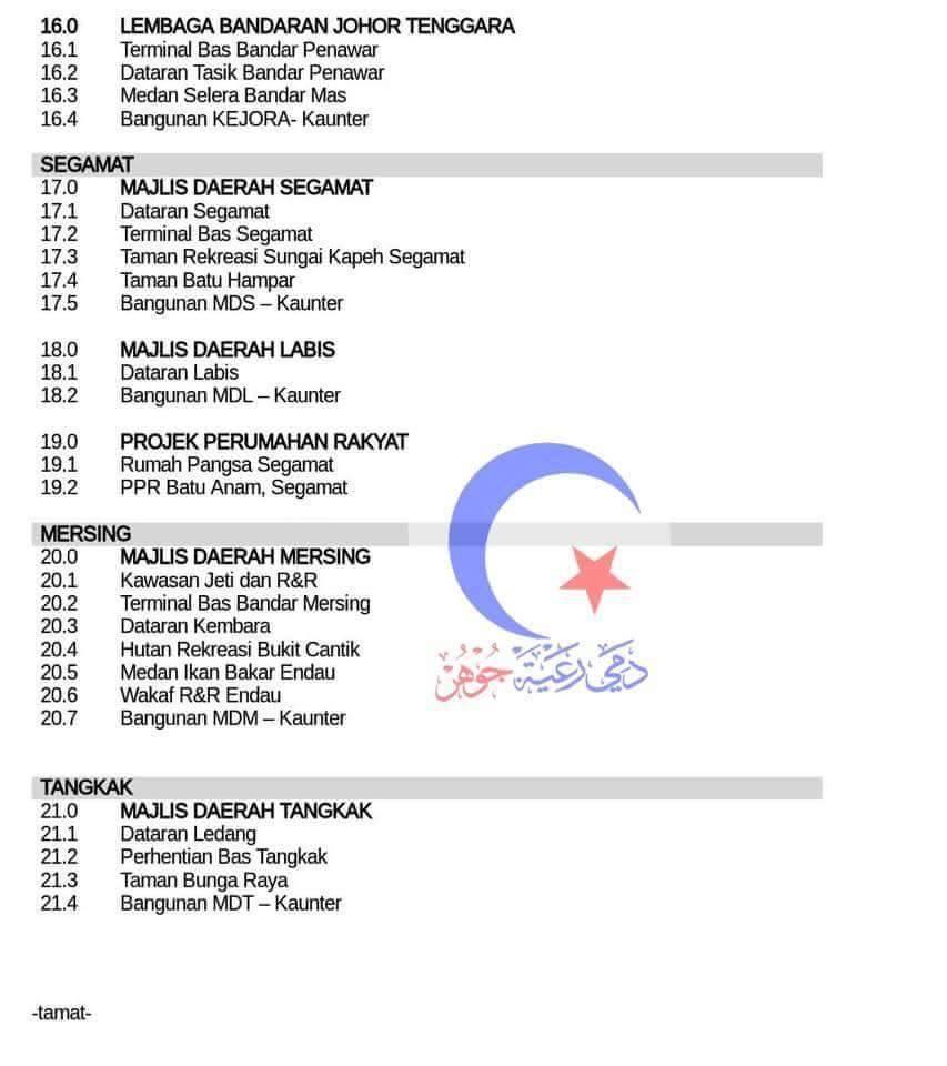 """Senarai Lokasi Kawasan Hotspot """"Johor Free Wifi"""""""