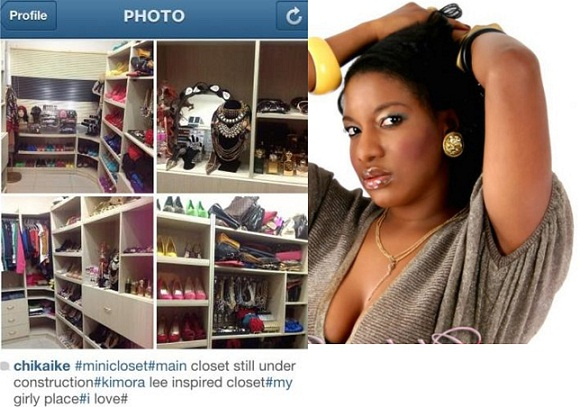 Nollywood Actress Chika Ike Shows-off Her Mini Closet chiomaandy.com