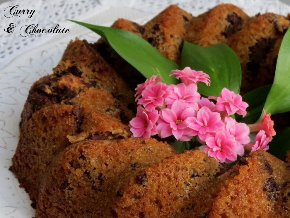 Bizcocho de galletas María y trocitos de chocolate