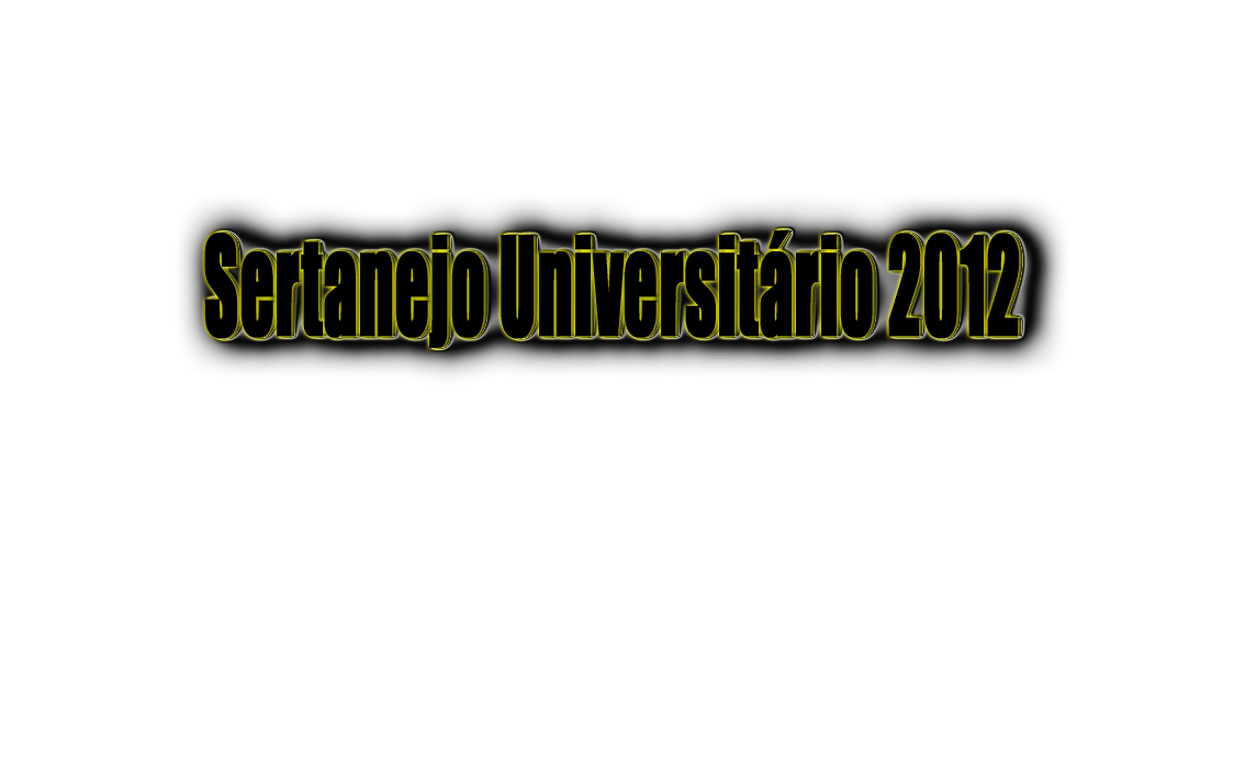 Sertanejo Universitrio 2012