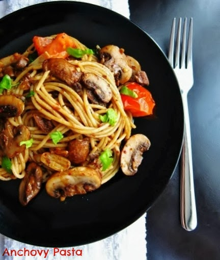 15 Minute Anchovy Pasta from Nomsies Kitchen