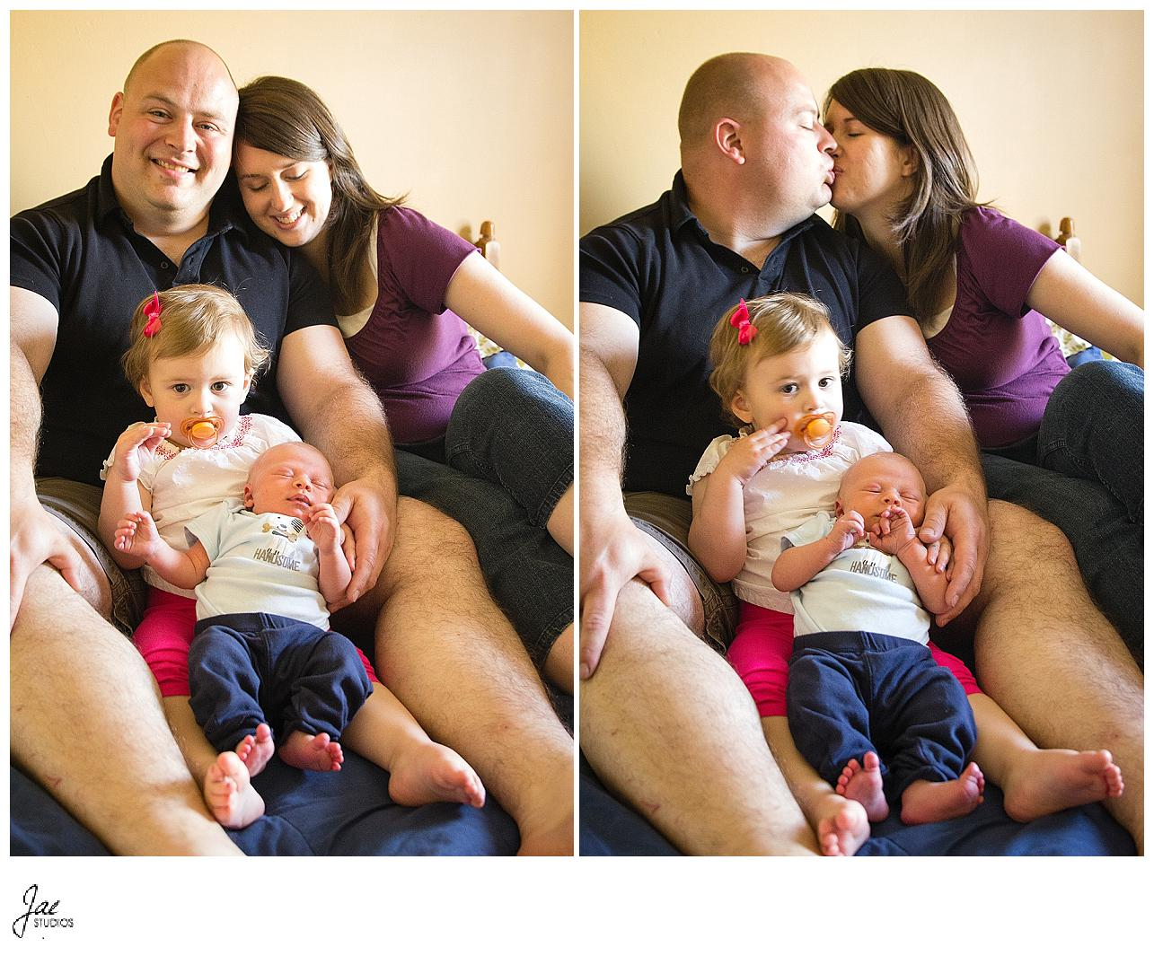 Newborn & Family Session in Family Home Lynchburg