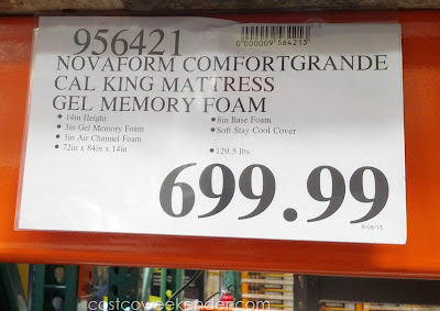 Deal for the Novaform ComfortGrande Cal King 14 inch Mattress at Costco