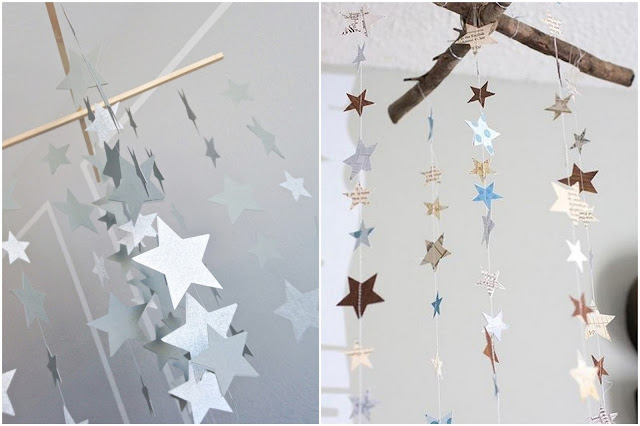 paper stars mobile