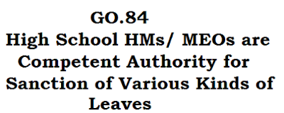 GO.84, Leaves, Competent Authority