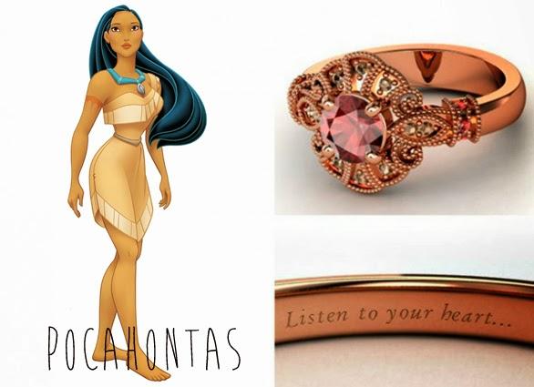 blog Mamãe de Salto aliança inspirada nas princesas da Disney Pocahontas