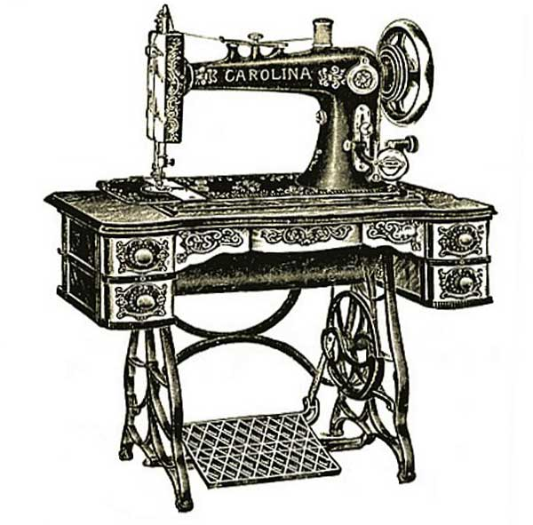 free vintage clipart, free clipart, vintage treadle sewing machine, vintage images