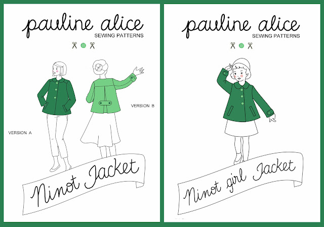 Ninot jacket pattern, swing jacket, girl jacket, back pleat, bound buttonholes, welt pòckets