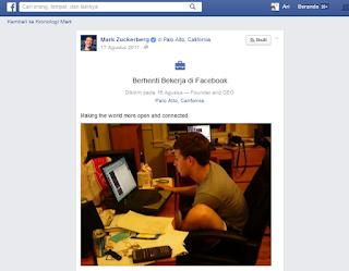 Mark Zuckerberg Telah Berhenti Bekerja Di Facebook, Masa sih???