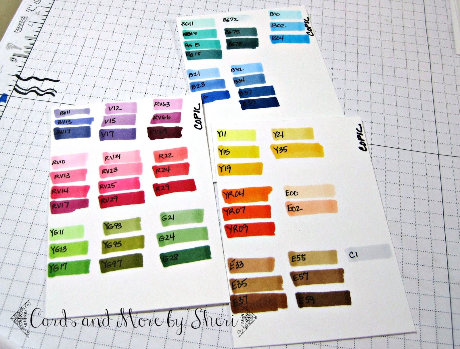 Cards and More by Sheri Color Chart Reference Mini Book