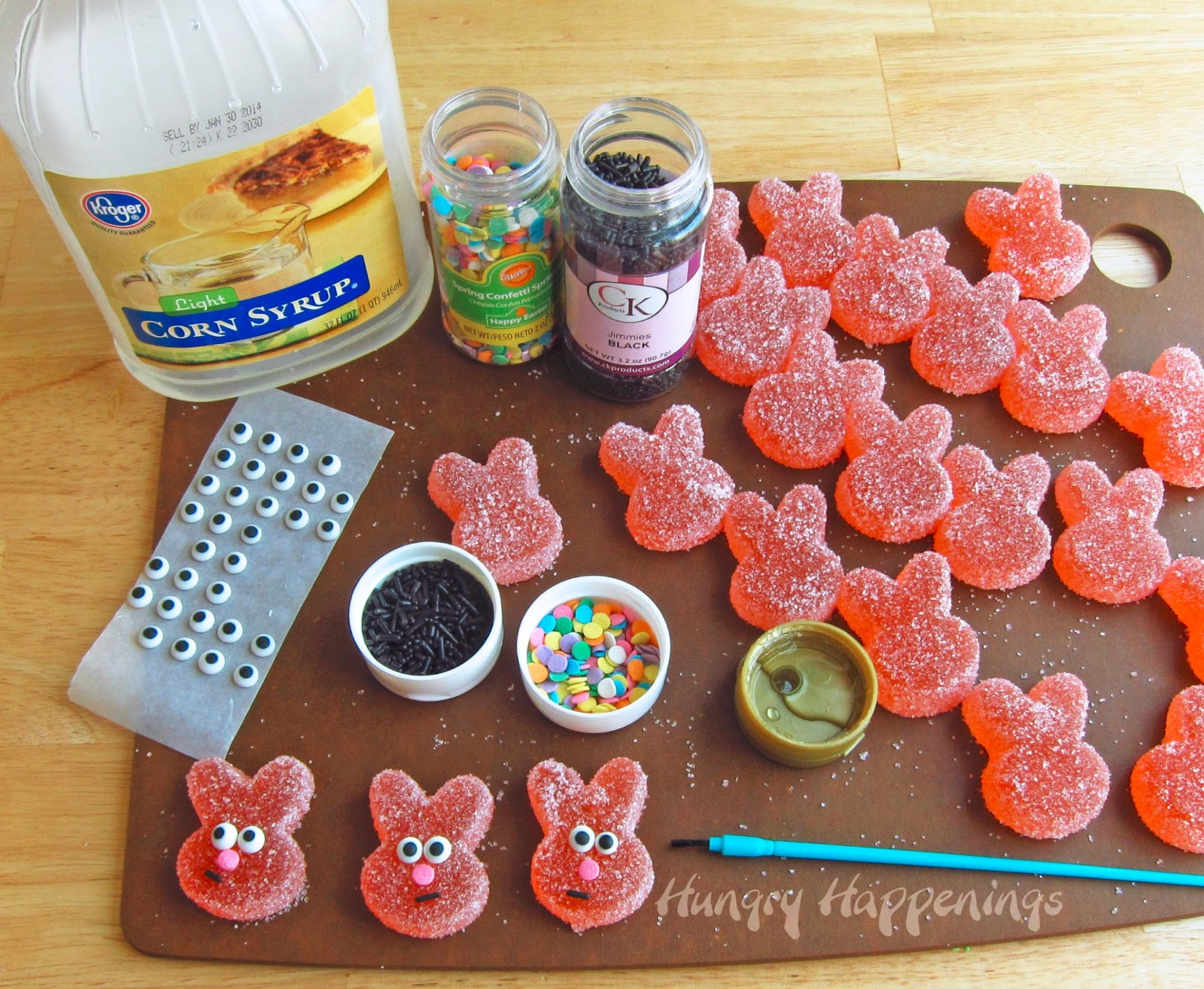 Homemade sour gummy bunnies hungry happenings easter recipes if you love sour patch kids you are going to absolutely love these homemade sour gummy forumfinder Choice Image
