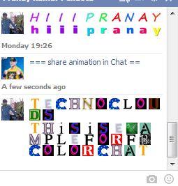 Facebook Numeric Multicolor Chat Code Generator (Online)