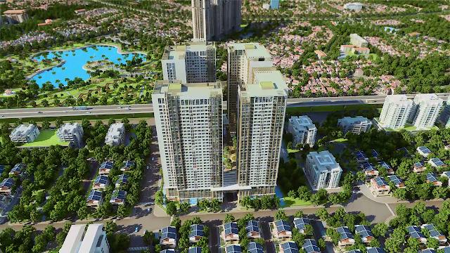 Phối cảnh tổng thể dự án chung cư Eco Green City