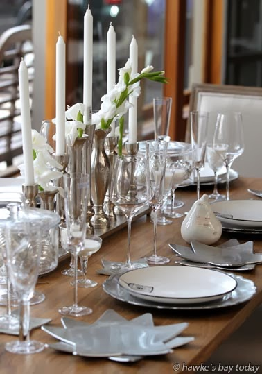 Christmas table setting at Madisons, a retailer in Tennyson St, Napier photograph
