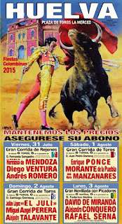 COLOMBINAS 2015  Cartel Taurino