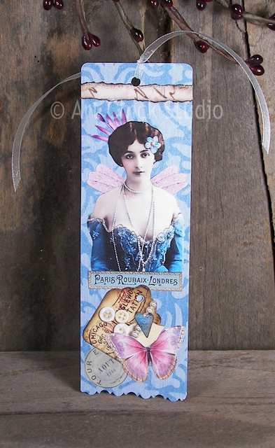 French Fairy Altered Art Bookmark