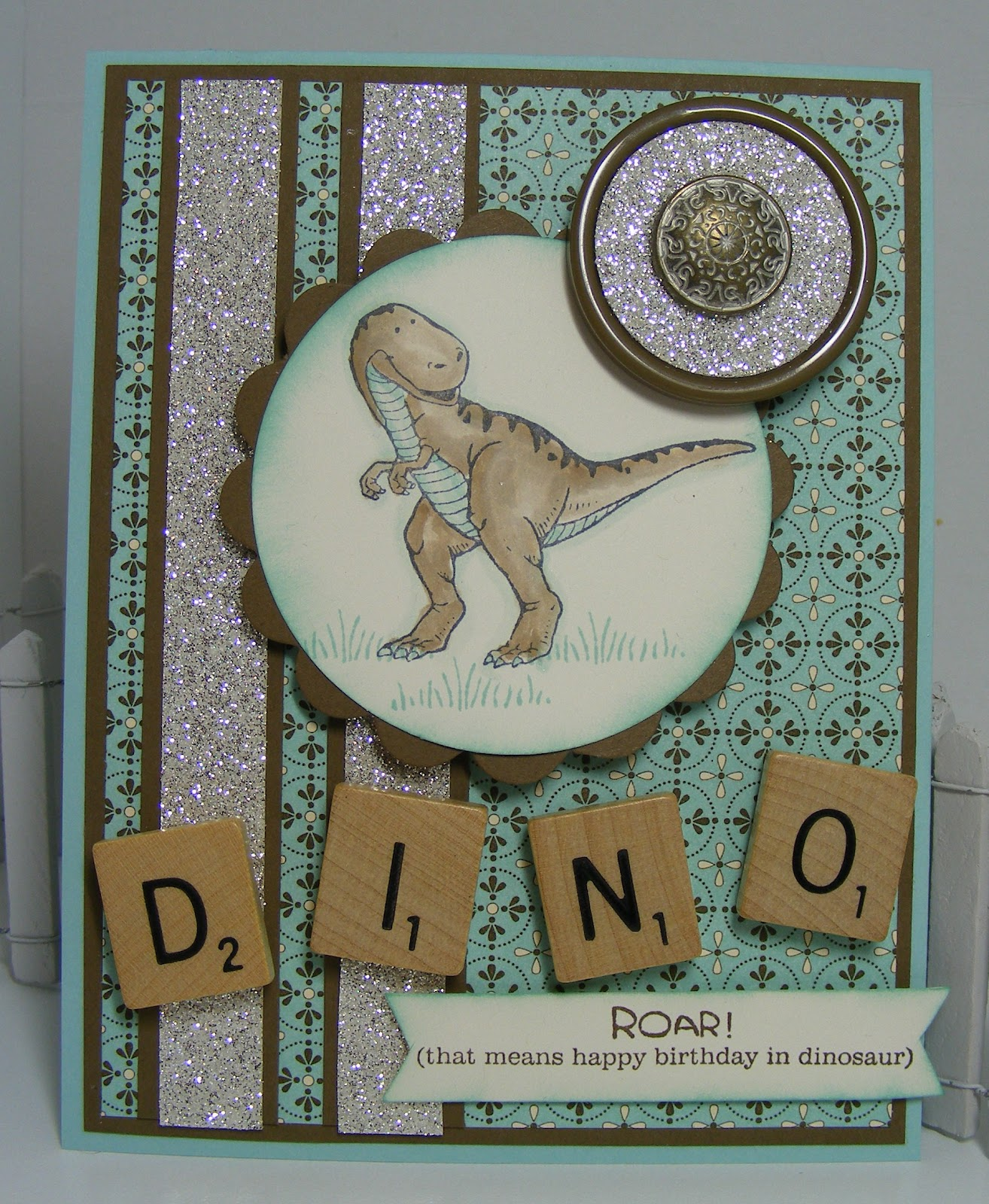Cute stuff by Shirley: Dinoroar Kids Birthday Card for Paper ...