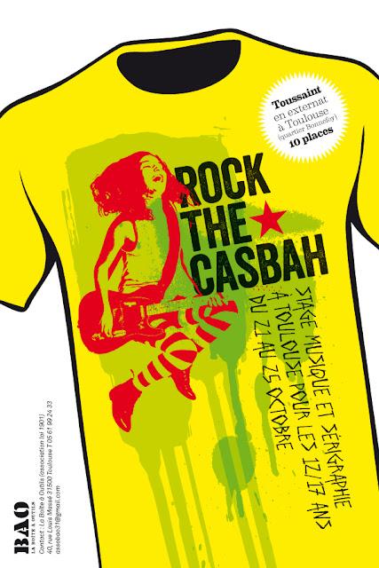 Colo pour ados musique et sérigraphie à la Toussaint 2013