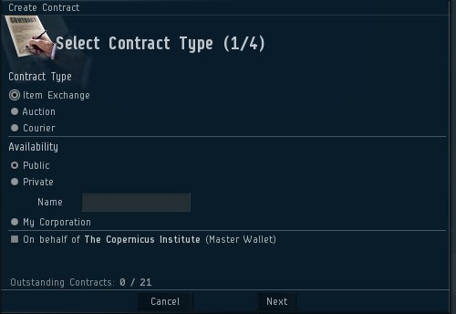 Eve Boffin A Rookies Guide To Eve Online The Fine Print On Contracts - Create contract online